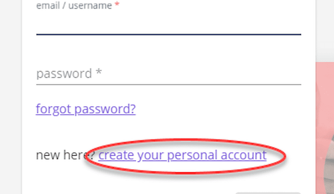 Go to Create Account
