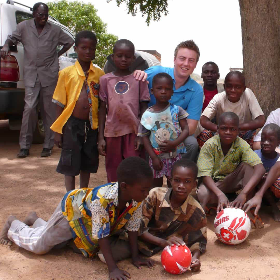 Daniel Mettler (founder of azing) on a visit to Burkina Faso (Africa)